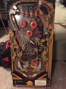 Playfield assembly sitting in my gameroom waiting for its fate to be determined.