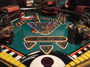 Diamond Plated playfield in really nice shape after polish and wax.