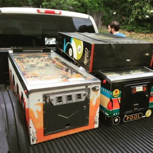 KISS and Pool Sharks on the truck before being unloaded