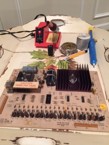 Solenoid Driver Board Prepped for Upgrades