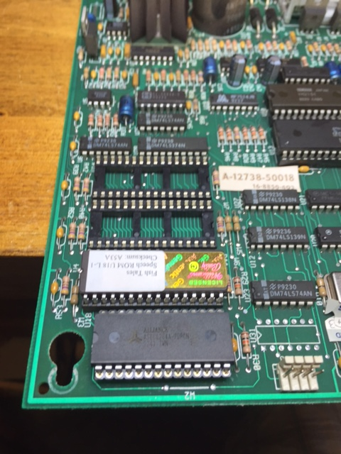 Socketed and Replaced U9 RAM chip